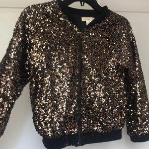 Sparkle jacket zip up